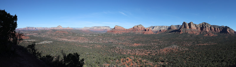Panorama of Sedona Red Rocks from Hiline Trail