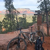 Mountain Bike on High on the Hog Mountain Bike Trail in Sedona Arizona