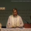 Rev. Angela Zimmann gives the prayer in English. (© Danae Hudson/ELCJHL)