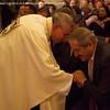 Bishop Munib Younan greets Mr. Nasser Judeh, Minister of Foreign Affairs for Jordan. (© Danae Hudson/ELCJHL)