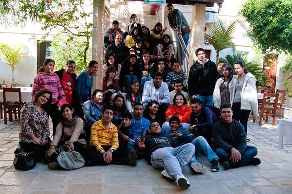 Senior and Junior Sahiroon members gather in Nazareth for leadership training.