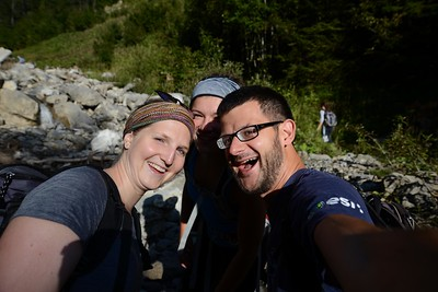 Tough hiking excursion