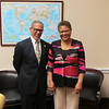 Dr. Cavid M. CArlisle, President and CEO of Charles R. Drew University of Medicine and Science with Congresswoman Karen Bass