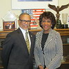 Dr. Cavid M. CArlisle, President and CEO of Charles R. Drew University of Medicine and Science with Congresswoman Maxine Waters