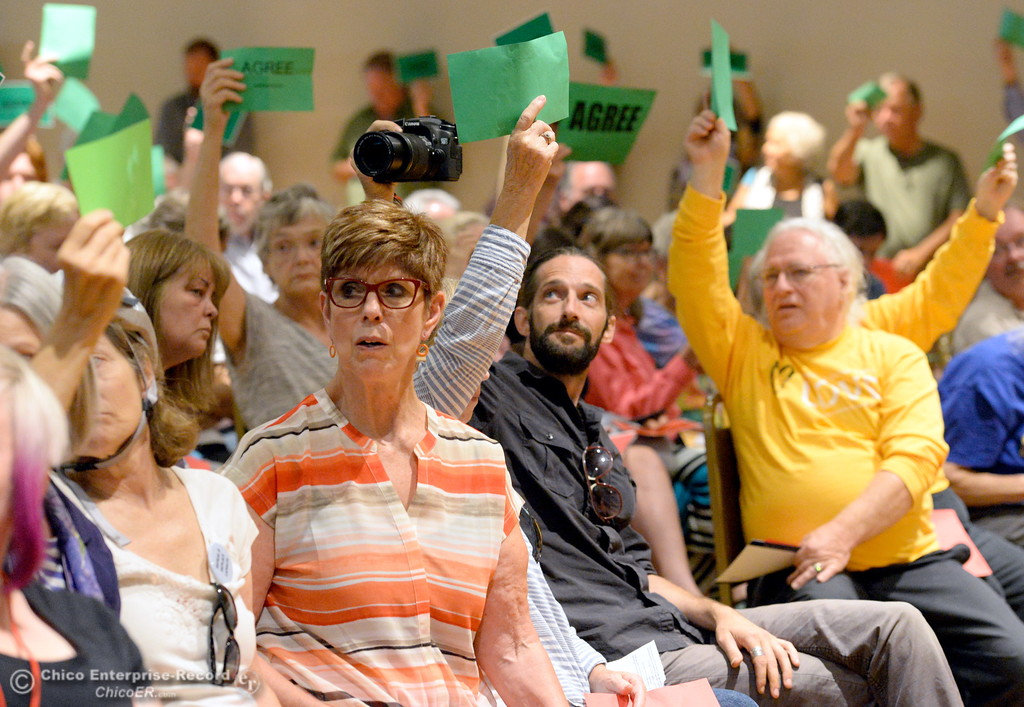 . during a Town Hall meeting held by Congressman Doug LaMalfa at the Elks Lodge in Chico, Calif. Monday Aug. 7, 2017.  (Bill Husa -- Enterprise-Record)