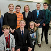 Congresswoman Niki Tsongas leads a discussion with the Political Discussion Club at Oakmont Regional High School on Wednesday, May 10, 2017. From left, back row: Amanda Porter, Daniella LeBlanc, Evan Weinerb, Congresswoman Tsongas, Cam Rocheford, Ian Cole and Olivia Young. Front: Ryan Weston, Max Charbonneau and Olivia Smith. SENTINEL & ENTERPRISE / Ashley Green