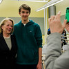 Doug Rau poses for a photo with Congresswoman Niki Tsongas following a discussion with the Political Discussion Club at Oakmont Regional High School on Wednesday, May 10, 2017. SENTINEL & ENTERPRISE / Ashley Green