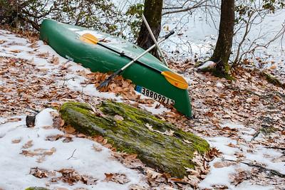 Canoe Awaiting Spring