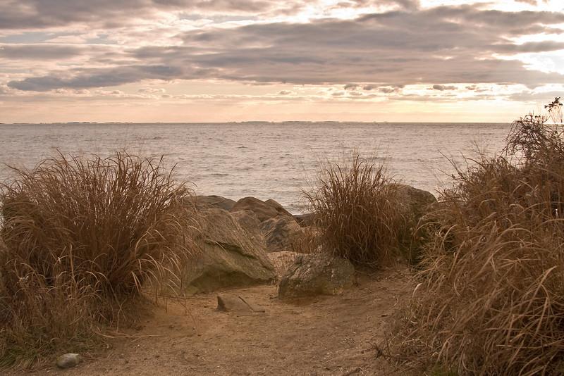 Sunset over Long Island Sound