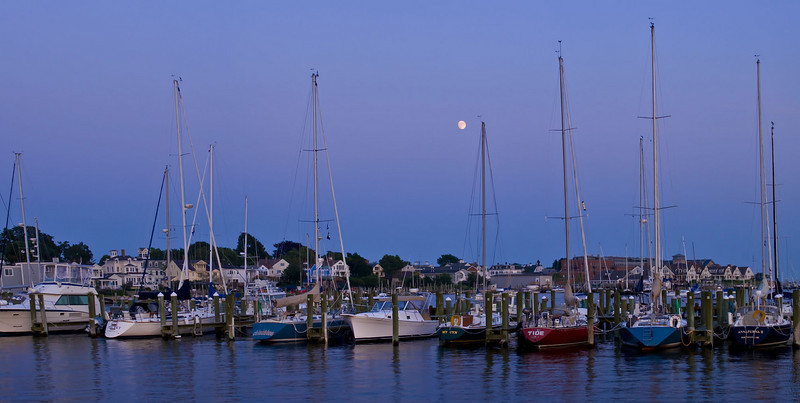 Stonington Boats in Moonlight