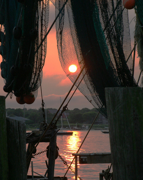 Sunset on Trawler<br /> Stonington, Connecticut
