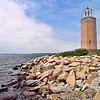 The Avery Point Lighthouse was built on an estate once owned by a wealthy businessman named Morton F. Plant who passed away in 1918.  The land was sold to the State of Connecticut in 1942.