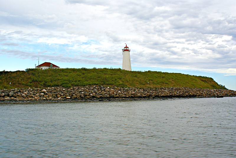Thomas Jefferson and James Madison had travelled to Guilford, Connecticut in 1791 by sloop and had noted Faulkner's Island and its outlying reefs.  When Jefferson gained the Presidency in 1800, he sent a representative of the Treasury Department to inquire about the purchase of the island for the government.<br /> Medad Stone, one of the leaders of Guilford, had purchased Faulkner's Island for $158 in May 1800.  Stone ran a local tavern and stage stop and served as Postmaster for the town.  Possibly acting on 'inside information' he had learned of the government's plan for Faulkner's Island and saw an opportunity to turn a profit.  He offered to sell the island for $500 to the government.