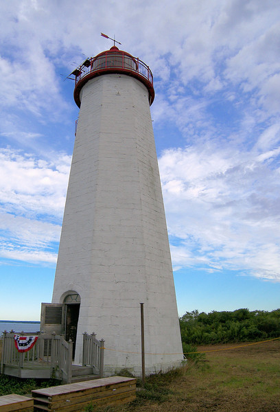 For two years the tower remained unlit until 1978 when it was repaired and an automatic modern optic was placed in the lantern.  In 1988 the tower was converted to solar power.