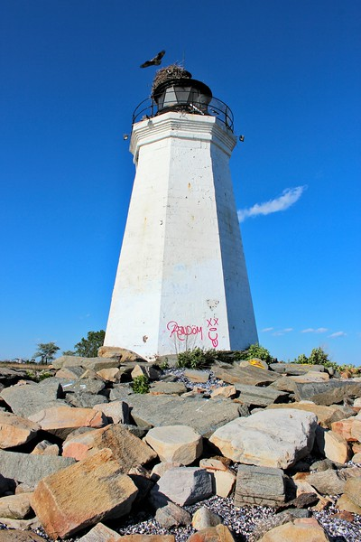 The lighthouse received another blow in October 2012 when it was struck by Hurricane Sandy which caused damage to the area.  Federal funds were approved in 2015 to provide for a new door to the tower as well as shore protection.