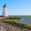 In 1807 the Federal government appropriated $5,000 to build a lighthouse at the southeastern point of Fayerweather Island.  9½ acres for the light station were purchased for $200 from Daniel Fayerweather.