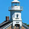 The lighthouse received a new iron lantern with a 4th Order Fresnel lens in 1858.  The lens exhibited a fixed white light.