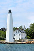 During the Revolutionary War, most of New London was burned by invading British troops in 1781; however the stone lighthouse survived unscathed.  By 1799 a 10 foot crack had developed from the lantern down the side of the tower.  Congress appropriated $15,700 to have the lighthouse rebuilt.