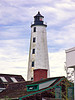 The new lighthouse was built by Abisha Woodward, a New London native who had completed the Bald Head Lighthouse in North Carolina in 1794.  Woodward went on to build 4 more lighthouses in Connecticut between 1802 and 1808.