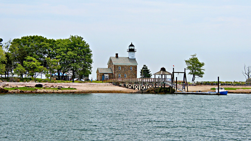 The government purchased 3 acres of land on Sheffield Island from Gershom B. Smith in 1826 for the lighthouse station.  Smith had married Captain Sheffield's daughter Temperance and purchased the island from his father-in-law.