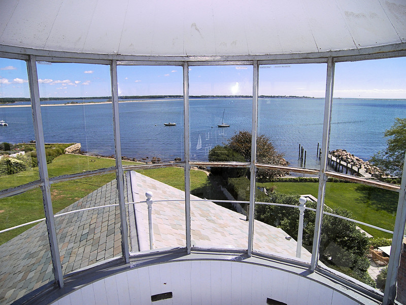 A former sea captain William Potter was named the first Keeper of the Stonington Harbor Light at an annual salary of $300.  In 1824 he lit up the lantern and produced a light visible for 12 miles.