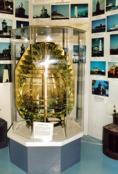 **A 4th Order Fresnel lens on display in the museum** In 1856 the oil lamps with reflectors in the lantern were replaced with a fixed Sixth Order Fresnel lens.