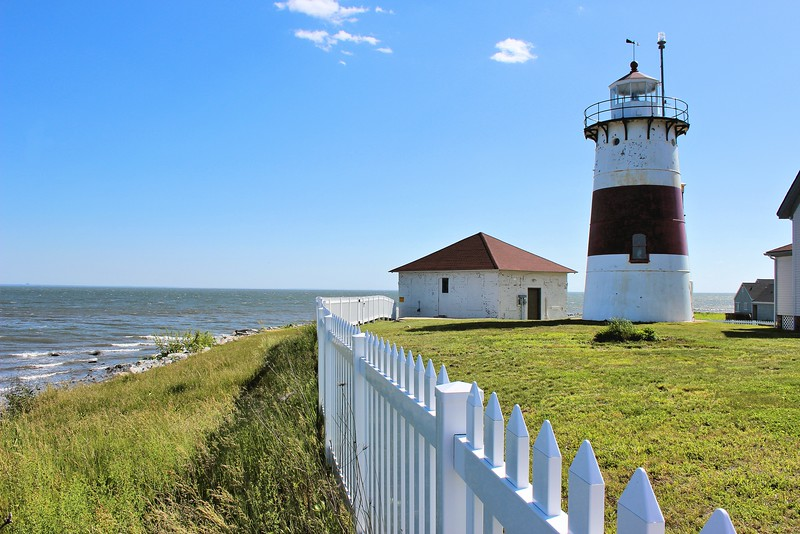 """Samuel Buddington was succeeded by his wife Amy as the new Keeper at Stratford Point.    Amy and her son Rufus proved to be better Keepers as an 1850 inspection report stated """"Light-house and dwelling, and in fact the whole establishment, is in good order""""."""