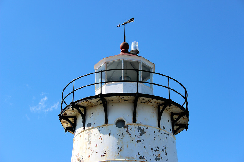 In 1969 the Coast Guard removed the lantern from the top of the tower in order to install a pair of DCB-224 aerobeacons.  The lighthouse was automated in 1978 and was controlled remotely from the Eaton's Neck Coast Guard base in New York.  The Keepers house was boarded up as personnel were removed from the station.