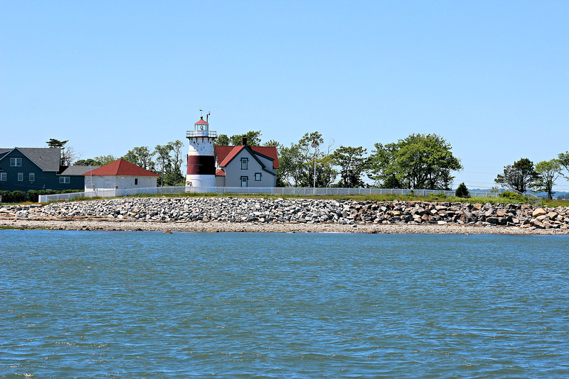 Stratford Point juts out into Long Island Sound at the western side of the entrance into the Housatonic River.  Four acres of land at the point were purchased in 1821 for a lighthouse station to be constructed.