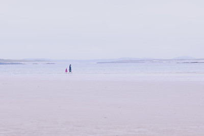 Walkers on the Beach, Omey Strand-1L8A1209