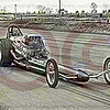 This is the hand drawn rendition for sale.  To order the photo, go to pg. 1.  Connie Kalitta racing at Detroit Dragway in 1967.