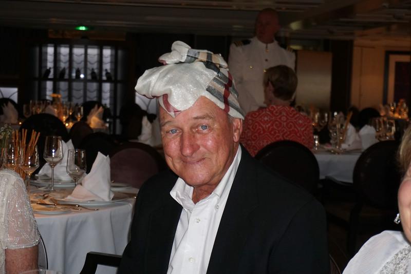 Tom at dinner as an arab? Burkhart?