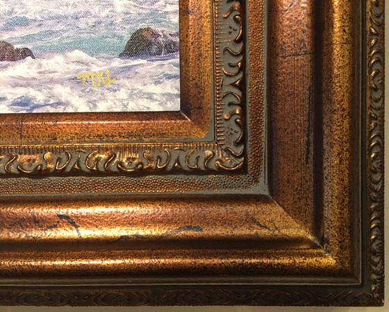 446 Antique Bronze frame (corner sample)