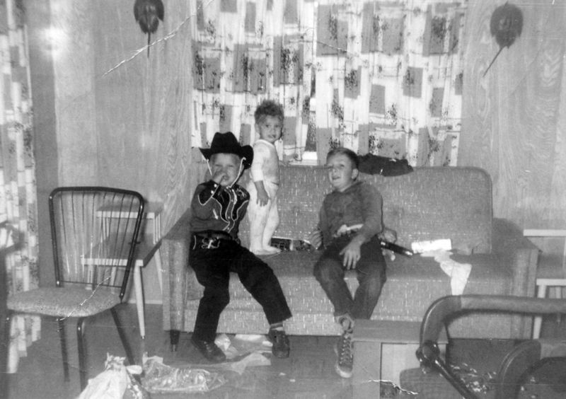 George,Robert&PhilipCoulter Xmas 1958