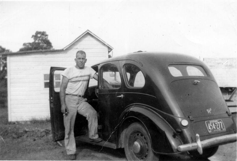 PeeWee & Grandma's car 1955