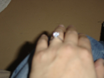 Loaner ring.. the Sony just wasnt up to taking pictures of diamonds