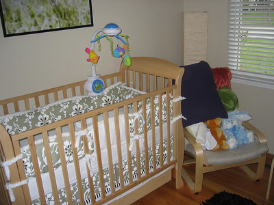 Connor's Nursery - The crib.