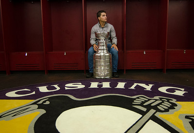 Conor Sheary visits Cushing Academy with Stanley Cup