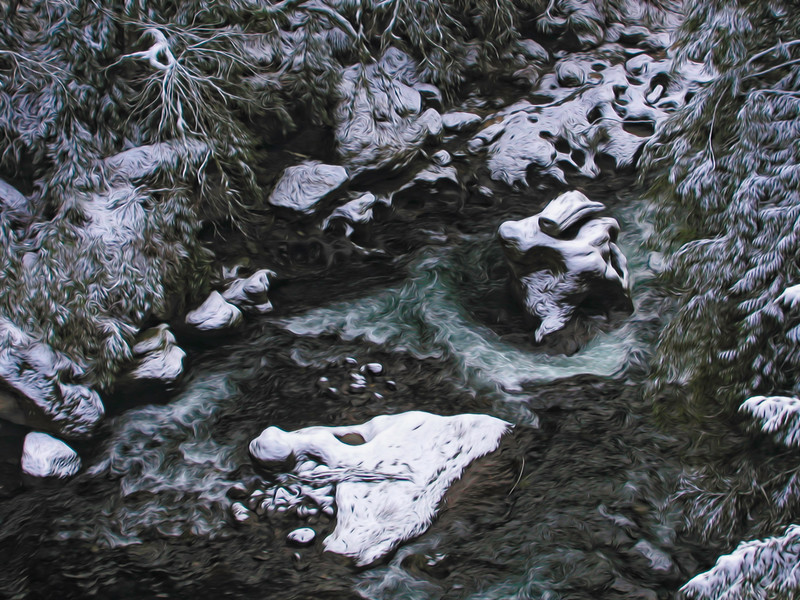 Winter Snow on the Green River Gorge
