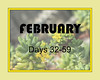 February marker for xeric plant blooms through the year