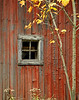 Just a Window, Red Barn Siding, and Tree