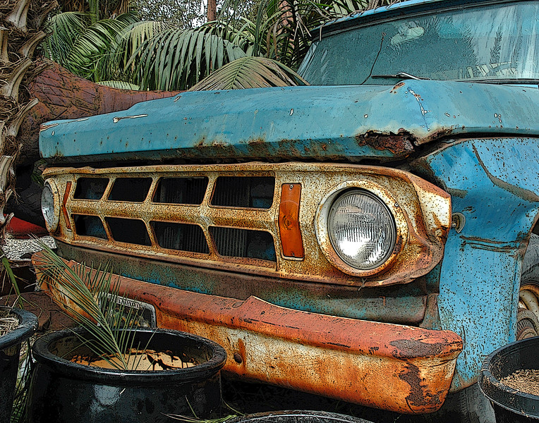 Rusty, Yet Colorful, Old Truck