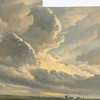 Study of Clouds with a Sunset near Rome