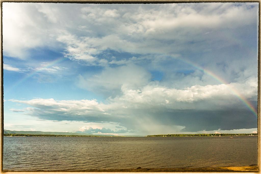 July Rainbow Over Quebec