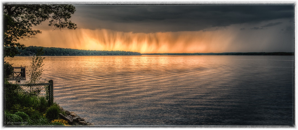 Raining to the West as Sun Sets