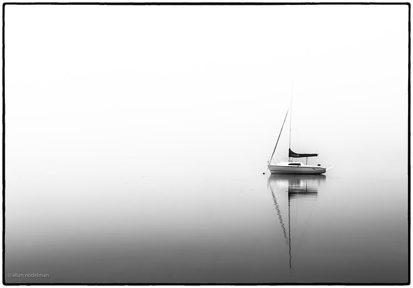Neighbour's Sailboat in the Fog