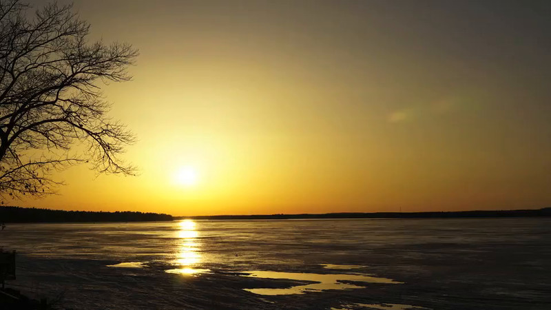 Sun Setting Over the Ottawa River