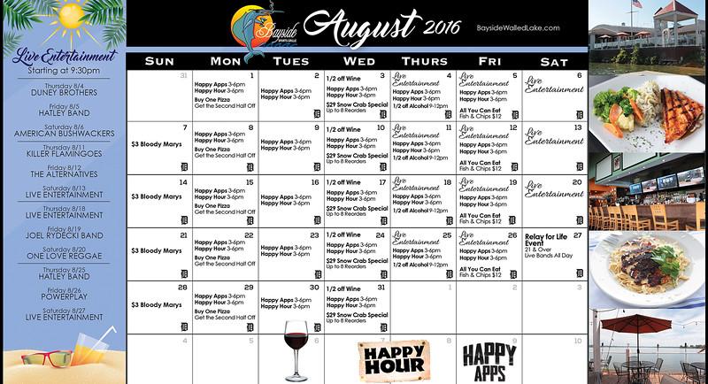 Bayside Events Calendar August Revised