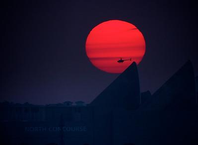 Sunset in Orlando, FL.