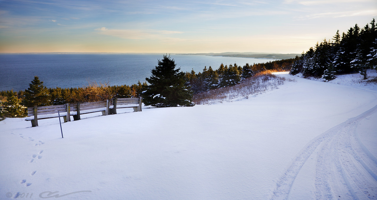 The view of Northumberland Strait from Cape George Point, Nova Scotia.